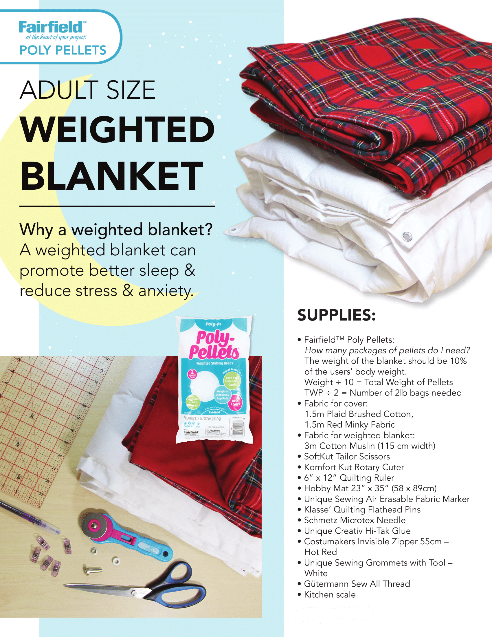 Diy Project Weighted Blanket Fabricland