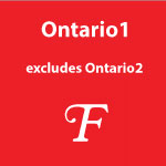 Ontario 1 - cities excluding Ontario 2